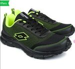 Lotto Running Shoes For Men(Black) @ 589₹ only (price drop)