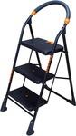 Brats N Angels 3 Step Carbon Steel Ladder  (With Platform)