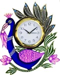 (Hurry only 4 Left) DivineCrafts Analog 35 cm Dia Wall Clock (Multicolor, With Glass)