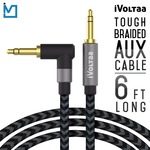 iVoltaa 3.5mm Braided Aux (Auxiliary) Audio Cable