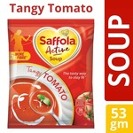 [ Pantry ] Saffola Active Soup,(Tangy Tomato/Sweet corn), 53g with 40% discount coupon