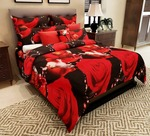 Elegant 152 TC 3-D Double Bedsheet with 2 Pillow Covers - Floral, Multicolour
