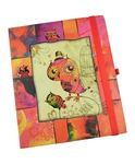 Premium Paper Owls Hard Cover Single Ruled Diary Notebook - 17 cm x 20 cm, 160 Pages (Pink)