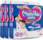 MamyPoko Pants Extra Absorb Diapers - M  (222 Pieces)