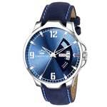LIMESTONE Avengers Day and Date Functioning Soft Leather Analog Watch for Boys/Men