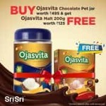 Buy Ojasvita Chocolate Pet Jar (1kg) worth Rs.495 & Get  Ojasvita Malt 200gm worth Rs.125 Free
