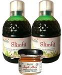 Farm Naturelle 1+1 Slim Juice+Free Forest Honey, The Finest 800 ml (2x400ML) Slimming