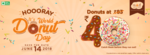 World Donut Day - All Donuts at Rs. 40/- (14th June) Valid in-store