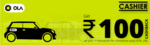 Ola :- Flat 100₹ cashback on Min Booking of 200₹ of Micro / Mini / Prime Rides Using Cashier Physical Card for the 1st Time