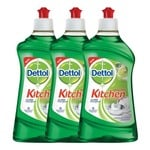 Dettol Kitchen Gel - 400 ml (Lime, Pack of 3)