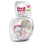 Lovi 22/807G Dynamic Spark Soother - 2 Pieces (Pink/Orange)