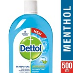 Dettol Disinfectant Liquid - 500 ml (Menthol Cool) at Rs.101