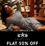 Minimum 50% off and 300 cashback on orders over 1200