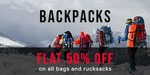 FLAT 50 % OFF ON BAGS AND RUCKSACKS