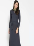 Label Ritu Kumar Women Navy Blue Solid Maxi Dress