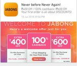 Extra 400 Off on 700 On first Order at Jabong