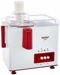 Maharaja Whiteline Gala JX-117 450-Watt Juicer Mixer Grinder with 2 Jars (White/Majestic Maroon)