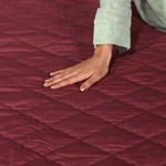 Rajasthan Crafts Premium Double Bed Quilted Mattress Protector (Cotton, 72 x 78) Dust Proof and Water Resistant, Maroon Color