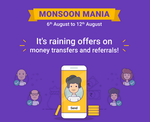 Phonepe Monsoon Mania - Send Money & Refer N Earn Offers   6 - 12 August