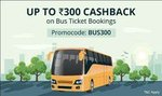 100rs cashback on 300rs bus ticket booking (All Users)