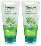 Himalaya Herbals Purifying Neem Face Wash, 2x150ml (Saver pack) @ 150
