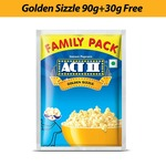 Act II Instant Golden Sizzle Popcorn, 90g + 30g Free : Pantry