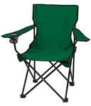 Inditradition Folding Camping & Fishing Chair | Lawn & Garden Chair | Perfect for Adult (Green)