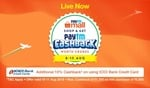 shop and get paytm cash back Independence sale from 8-15 August live now