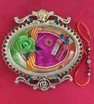 Golden Thali With Rakhi and Tilak By Aapno Rajasthan - Rs. 12