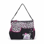 Baby Bucket Diaper Changing Bag - Green Giraffe Pattern