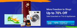Flipkart Freedom Sale Offer Period 2   On TVs & Appliances, Home & Furniture categories + 10% cashback with Citi Cards