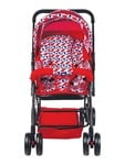 Mee Mee Comfortable Pram with 3 Seating Position, Checks, Red