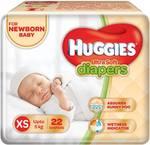 Huggies Ultra Soft Diaper - XS  (22 Pieces)