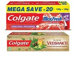 Colgate Swarna Vedshakti - 200 g with MaxFresh Spicy Fresh Toothpaste - 300 g, Apply 15% coupon