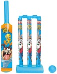 Looney Tunes Mini Cricket Set with 1 Plastic Bat & Ball, 3 Wickets, Base and Bail Cricket Kit @Flipkart