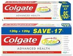 Rs. 83 - Colgate Total Advance Health Toothpaste - 240 g and Colgate Total Advance Health Toothpaste - 120 g