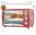 [Live @ 3PM] Prestige POTG 19L 41463 1380-Watt Oven Toaster Grill Rs. 1649 - Amazon