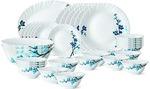 Larah by Borosil Mimosa Pack of 33 Dinner Set  (Opalware) - Only Few Left @ Flat 54% off