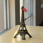 Onlineshoppee Eiffel Tower Decorative Showpiece - 15 cm  (Alloy, Gold)
