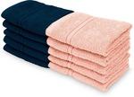Swiss Republic Cotton 460 GSM Face Towel  (Pack of 10, Pink, Dark Blue)