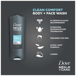 Dove Men+Care Body and Face Wash, Clean Comfort, 400ml