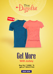 Jockey : Get a t-shirt free on purchase of Rs 1499