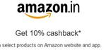 Amazon 10% cashback from American Express cards