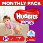 Huggies Wonder Pants Medium Size Diapers Monthly Pack (152 Count)- Rs  989  [ 51 %  off   ] @  amazon