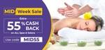 Upto 70% Off + Extra 55% Cashback upto ₹250 on ALL Spas & Salons