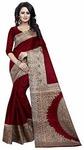 Ishin Art Silk Saree with Blouse Piece 92%OFF