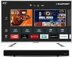10% SBI Discount    Blaupunkt 109cm (43 inch) Full HD LED Smart TV with External Soundbar  (BLA43AS570)#OnlyOnFlipkart