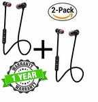 Kingsford Pack of 2 Magnetic Bluetooth Headphone