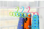Hanger Plastic Ring Hanger for Scarf (Brown)