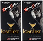 Kama Sutra Long Last Condom - 20 Pieces (Pack of 2)